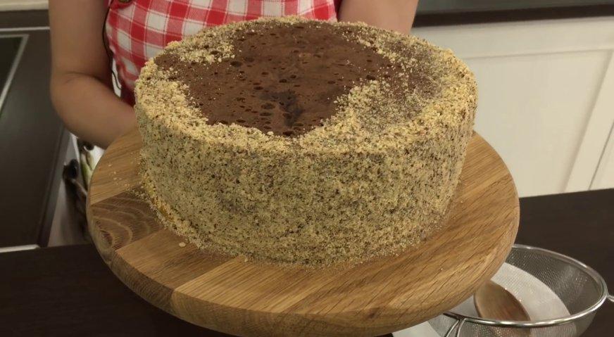 Торт Прага: В таком виде убираем наш торт в холодильник на несколько часов.