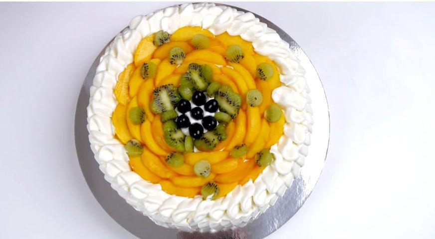 Фруктовый торт пошаговый рецепт в домашних условиях