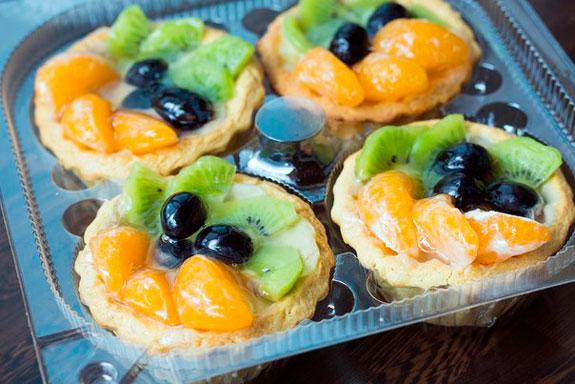 рецепт пирожного корзинка с желе