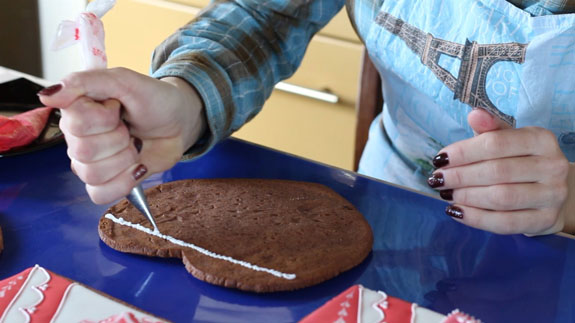 Собираем шкатулку. На основание обильно... Имбирный пряник Шкатулка: пошаговый фото-рецепт
