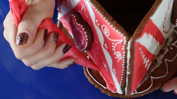 После того, как подарочная шкатулка подсохла,... Имбирный пряник Шкатулка: пошаговый фото-рецепт