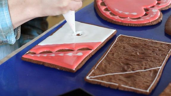 Точно таким же образом расписываем и... Имбирный пряник Шкатулка: пошаговый фото-рецепт