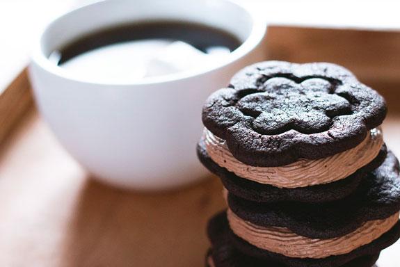 Шоколадное печенье сэндвич пошаговый рецепт в домашних условиях