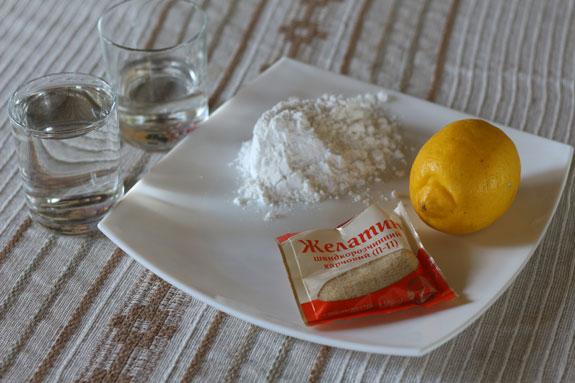 Ингредиенты. Желейные конфеты со вкусом лимона: пошаговый фото-рецепт