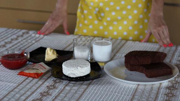 Ингредиенты для чизкейка с клубничным... Чизкейк с клубничным конфитюром: пошаговый фото-рецепт