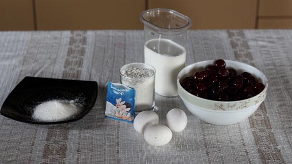Ингредиенты для французского десерта клафути... Клафути с черешней: пошаговый фото-рецепт
