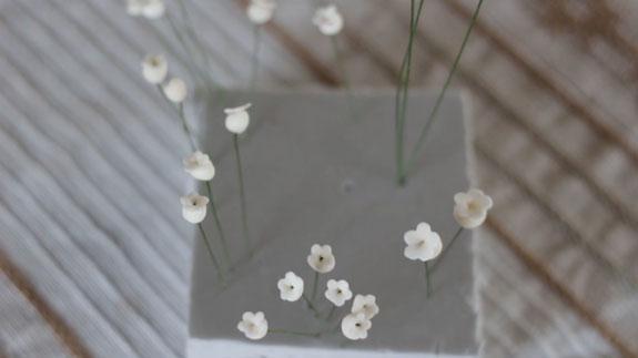 Как сделать ландыш из мастики: пошаговый фото-рецепт. Делаем так же все цветочки и даем им высохнуть