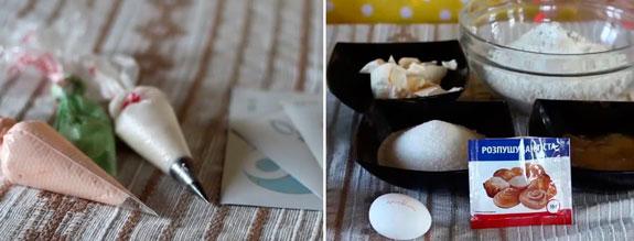 Ингредиенты для медовых пряников и айсинга на... Медовые пряники с росписью в свадебной тематике: пошаговый фото-рецепт