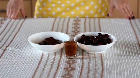 Ингредиенты. Конфеты Пьяная вишня в шоколаде: пошаговый фото-рецепт