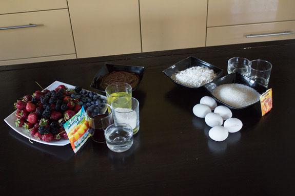 Ингредиенты, чтобы приготовить скошенный торт... Скошенный торт: пошаговый фото-рецепт