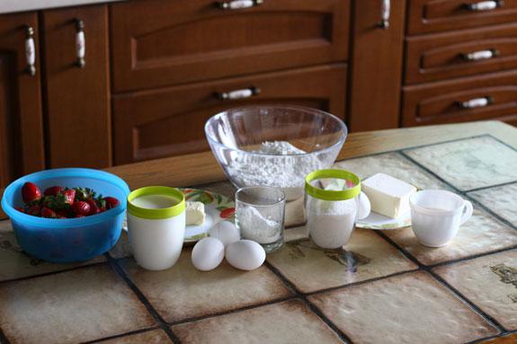 Ингредиенты для тарта с заварным кремом и... Тарт с заварным кремом и клубникой: пошаговый фото-рецепт
