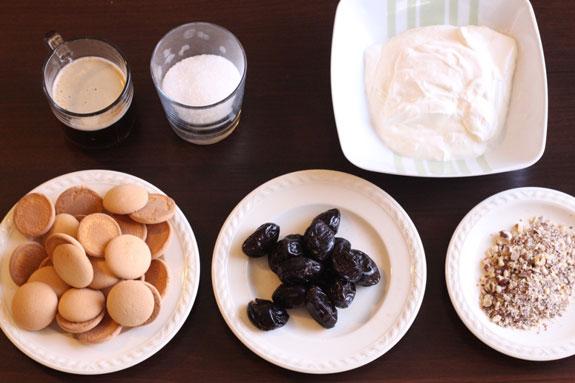 Ингредиенты для приготовления тирамису с... Тирамису с черносливом: пошаговый фото-рецепт
