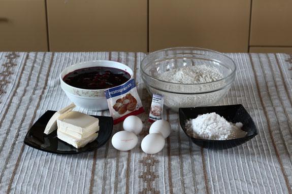 Ингредиенты. Венское печенье с вишневым конфитюром: пошаговый фото-рецепт