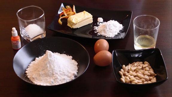 Все ингредиенты для приготовления... Апельсиновые макаруны: пошаговый фото-рецепт