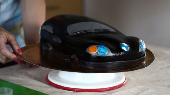Торт машина своими руками пошагово без мастики