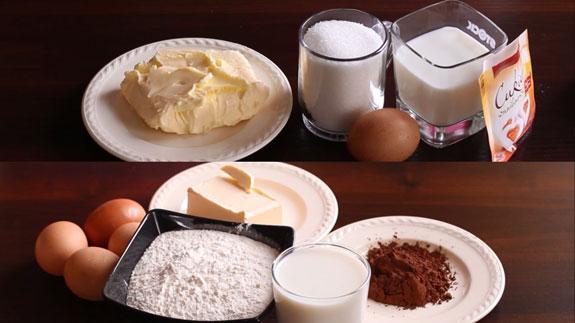 Ингредиенты для приготовления шоколадных... Шоколадный эклер: пошаговый фото-рецепт