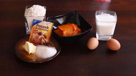 Ингредиенты для тыквенных панкейков. Тыквенные панкейки: пошаговый фото-рецепт