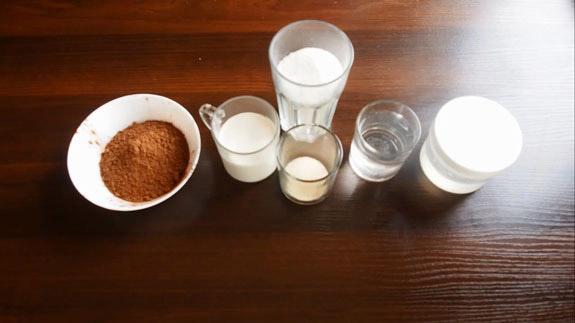 Ингредиенты. Шоколадная зеркальная глазурь: пошаговый фото-рецепт