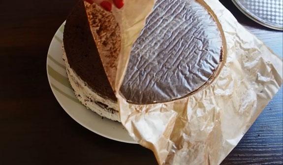 Спустя 2 часа, достаем торт из холодильника,... Торт Вупи пай (whoopie pie): пошаговый фото-рецепт