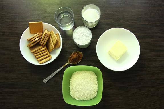 Ингредиенты. Рулет Баунти фото-рецепт