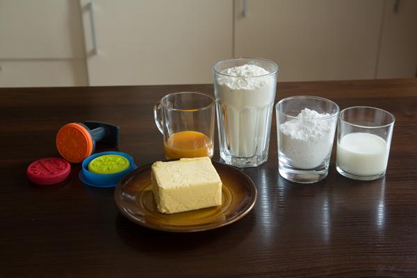 Ингредиенты. Песочное печенье на молоке: пошаговый фото-рецепт