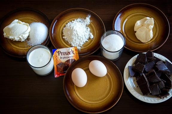 Ингредиенты - Пирожное брауни с маскарпоне