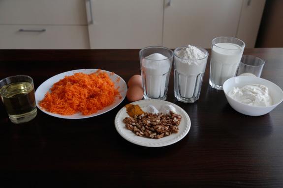 Ингредиенты для приготовления морковного... Морковный торт: пошаговый фото-рецепт